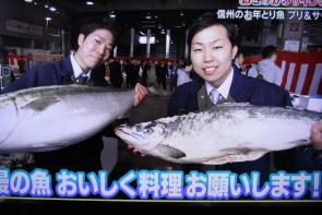 長野放送「土曜はこれダネッ!」鮭とブリ マルイチ産商プレゼンツ