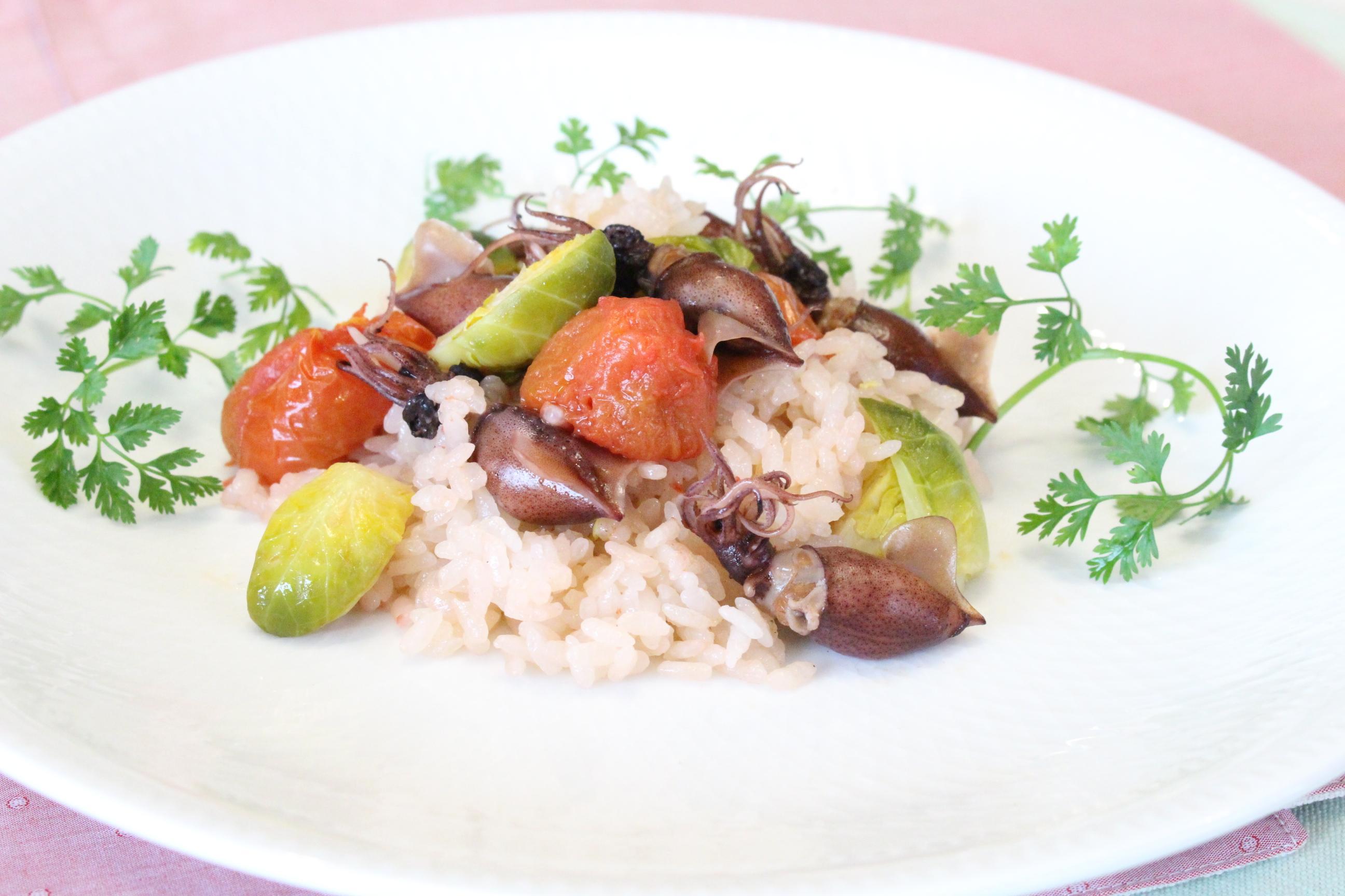 ホタルイカのイタリアン風炊き込みご飯