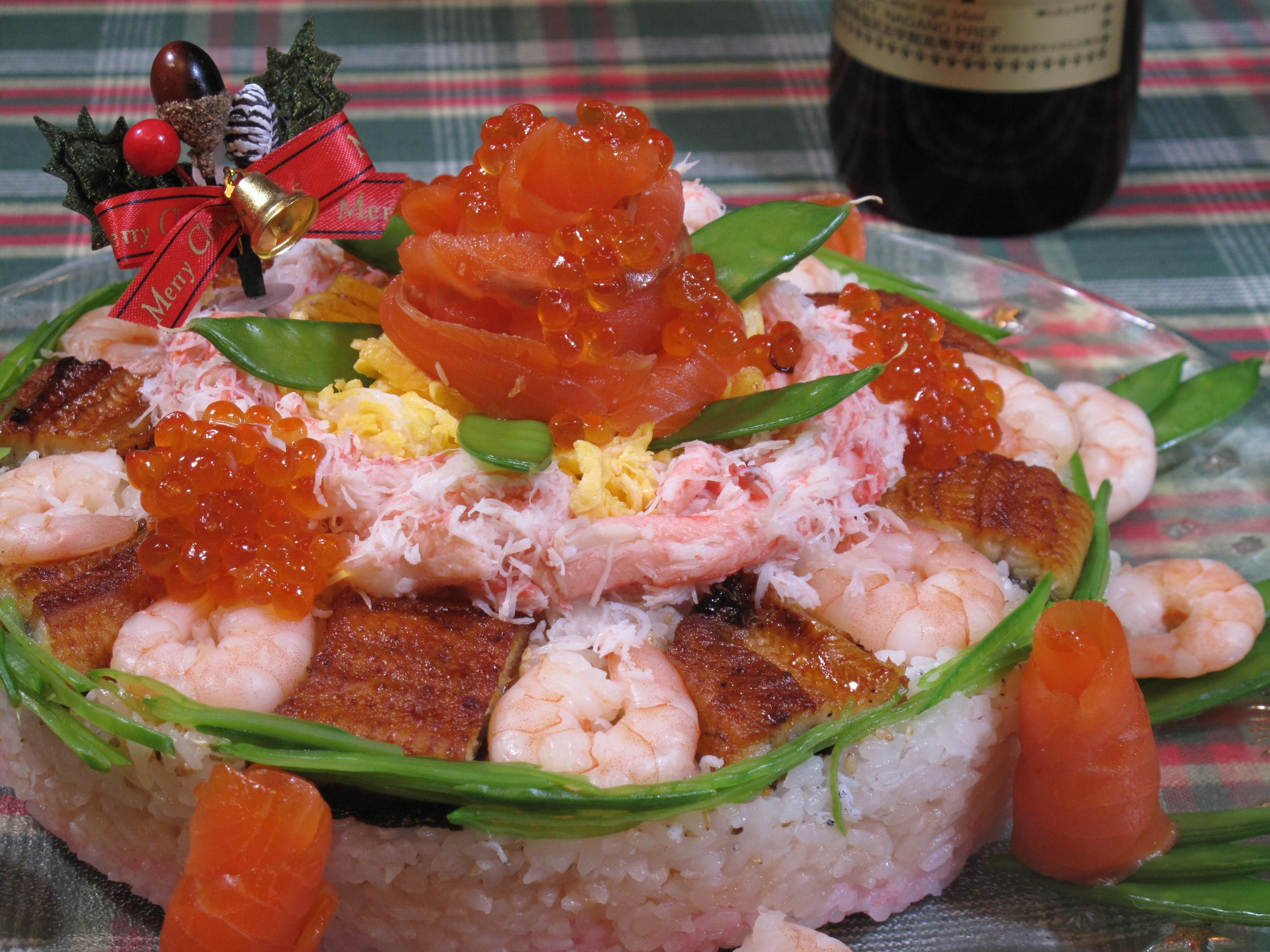 デコレーションケーキ風押し寿司