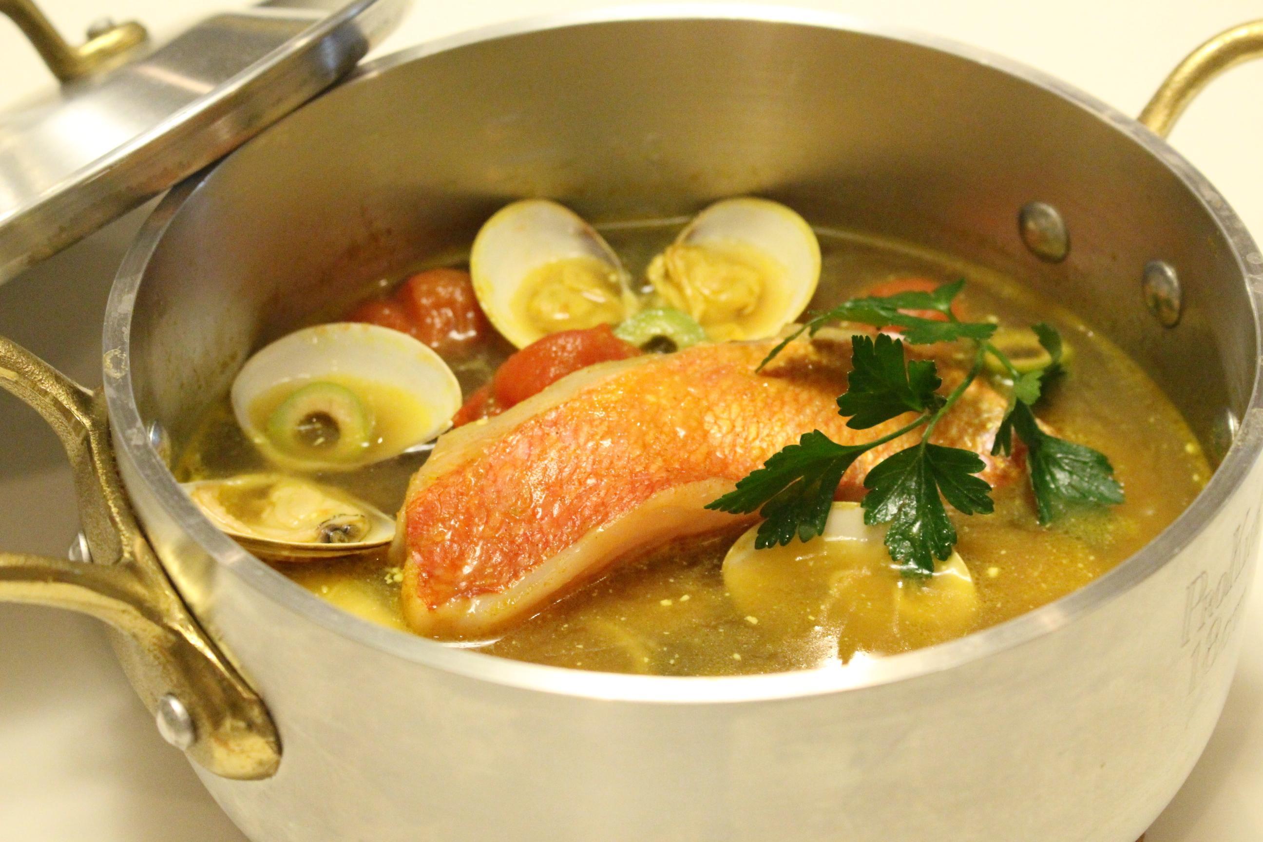 キンメダイの煮付け、イタリアの漁師風