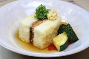 うなぎでちょっと豪華な揚げ出し豆腐